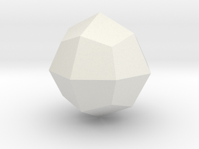 Joined Cuboctahedron - 1 Inch in White Natural Versatile Plastic