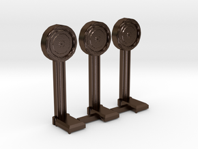 N-Scale 1920's Penny Scale - 3 Pack in Polished Bronze Steel