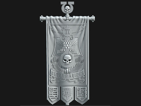 UM 2nd Company Banner - Defenders of the Temple in Smooth Fine Detail Plastic: Medium