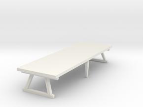Miniature Dining Table in White Natural Versatile Plastic