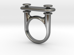 RingPlate1 v1 in Polished Silver (Interlocking Parts)