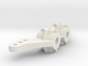 Tamiya Fox Steering Knuckle in White Natural Versatile Plastic