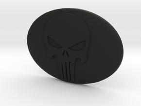 Toyota steering wheel emblem overlay Punisher in Black Premium Versatile Plastic