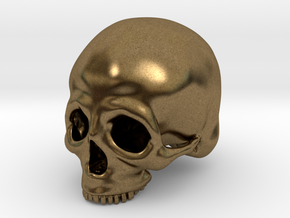 Skull Deko (small) in Natural Bronze
