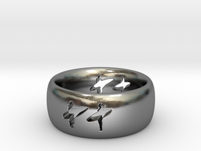 Surf  in Polished Silver