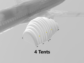 Jet Engine Tent (small) (x4) 1/500 in White Natural Versatile Plastic