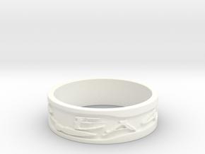 War Eagle 6.5 in White Processed Versatile Plastic