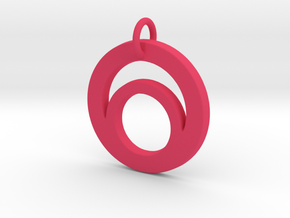 Circles Pendant-  Makom Jewelry in Pink Processed Versatile Plastic