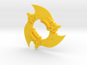 Beyblade Spin Cutter | Anime Attack Ring in Yellow Processed Versatile Plastic