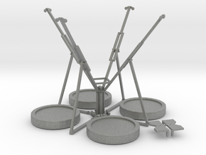 Maxi Bungee Trampolin 4er - 1:87 (H0 scale) in Gray PA12
