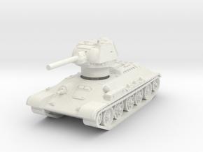 T-34-76 1942 fact. 183 mid 1/87 in White Natural Versatile Plastic