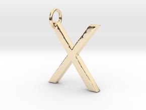 X Pendant- Makom Jewelry in 14k Gold Plated Brass
