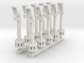 Airport Parking Guidance Single - Various Scales in White Natural Versatile Plastic: 1:400