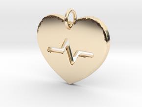 Heart Beat Pendant- Makom Jewelry in 14k Gold Plated Brass