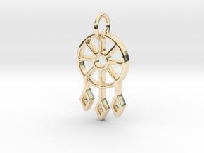 Dream Catcher - Makom Jewelry in 14k Gold Plated Brass