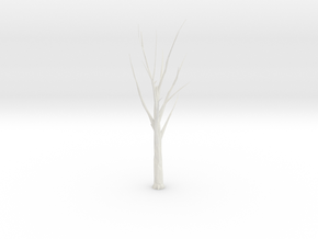 Tree Faceted - Trimmed Ends in White Natural Versatile Plastic