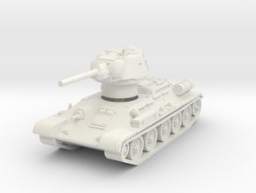 T-34-76 1943 fact. 183 late 1/87 in White Natural Versatile Plastic