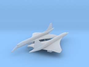 Concorde x2 (PA12) in Smooth Fine Detail Plastic: 1:700
