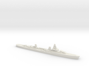 French cruiser Émile Bertin c1942 1:1800 WW2 in White Natural Versatile Plastic