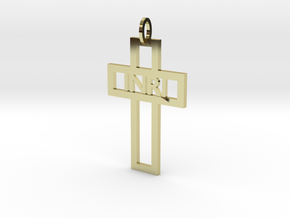 Cruz elegante INRI Ouro 18K in 18k Gold