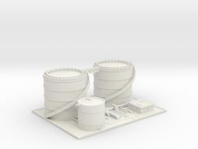 Airport Fuel Farm - Various Scales in White Natural Versatile Plastic: 1:400