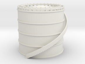 Large Airport Fuel Tank - Various Scales in White Natural Versatile Plastic: 1:400