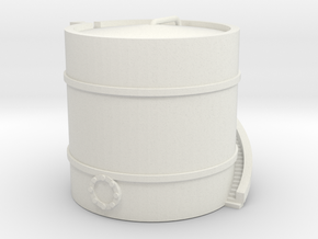 Small Airport Fuel Tank - Various Scales in White Natural Versatile Plastic: 1:400