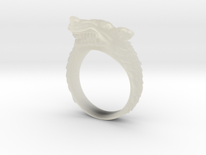 Size 9 Direwolf Ring in Transparent Acrylic
