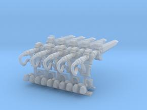 5 Hand Bionic Sword Forward Tilt in Smooth Fine Detail Plastic