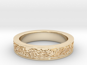 Celtic Wedding Ring 10 in 14K Yellow Gold