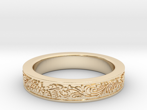 Celtic Wedding Ring 12.5 in 14K Yellow Gold