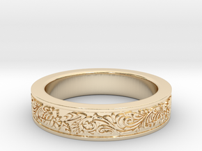 Celtic Wedding Ring 9 in 14K Yellow Gold