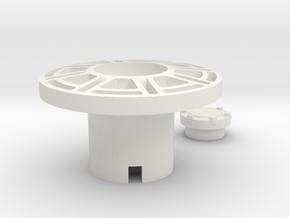 1/16 Panther 2 Idler wheel in White Natural Versatile Plastic