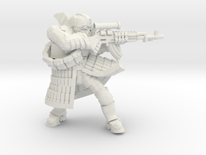 Tekno- Trooper in White Natural Versatile Plastic