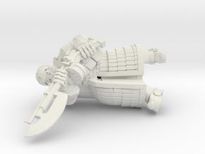 Tekno- Trooper in White Natural Versatile Plastic