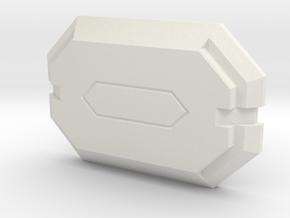 Mandalorian Citizens Buckle - 1 Piece L/XL in White Natural Versatile Plastic