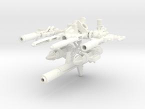 Blaster set for POTP Dinobots in White Processed Versatile Plastic