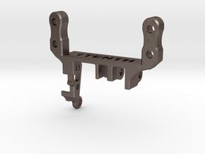 Metal Servo Mount V3.1 Traxxas TRX4 Portal in Polished Bronzed-Silver Steel