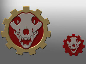 Wolven Gears Tank Emblems in Smooth Fine Detail Plastic: Small