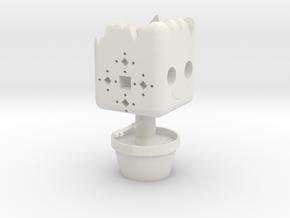Groot Character Tea-Light in White Natural Versatile Plastic