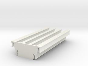 MiniFig Head Storage in White Natural Versatile Plastic