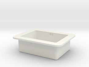Kitchen Sink in 1:12, 1:24 in White Natural Versatile Plastic: 1:24