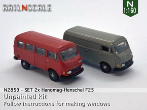 SET 2x Hanomag-Henschel F25 (N 1:160) in Smooth Fine Detail Plastic