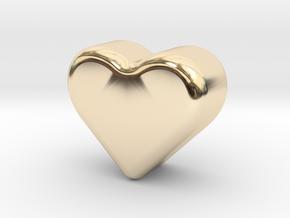 Heart Token, Miniature in 14K Yellow Gold