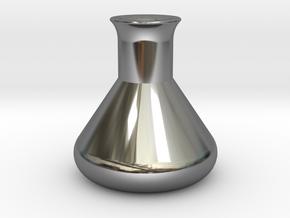 Erlenmeyer Flask in Fine Detail Polished Silver
