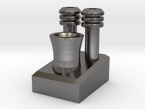 One Power Plant in Polished Nickel Steel