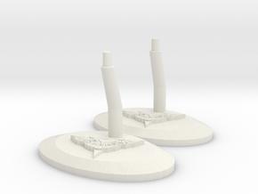 Romulan Stand I in White Natural Versatile Plastic