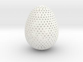 Easter Egg Square in White Processed Versatile Plastic
