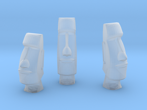 3 Easter Island statues (1:160) in Smooth Fine Detail Plastic