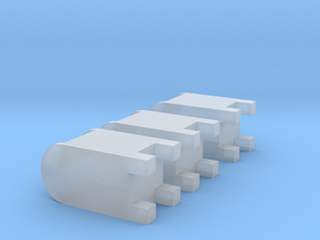 3 USA mailboxes (1:160) in Smooth Fine Detail Plastic